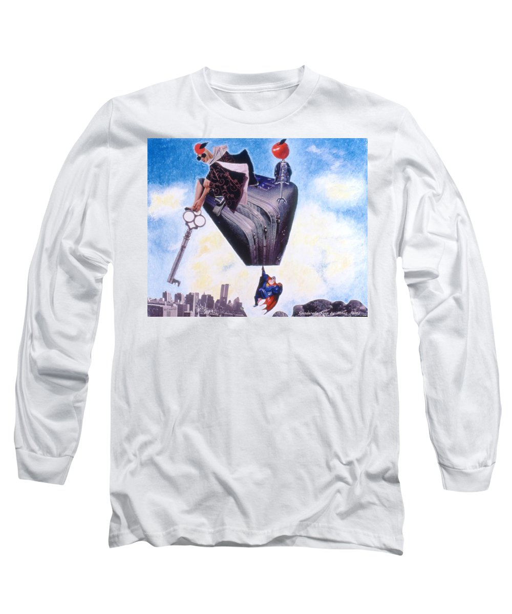 Twin Towers Long Sleeve T-Shirt featuring the drawing Soap Scene #11 Seek The Love Within by Minaz Jantz