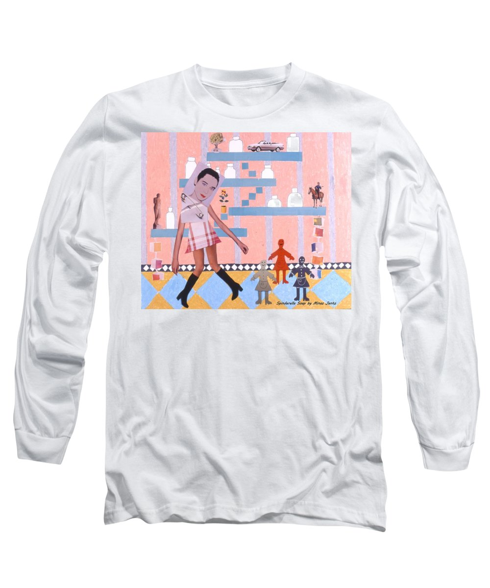 Cowboy Long Sleeve T-Shirt featuring the drawing Soap Scene #16 Miracle Maids by Minaz Jantz