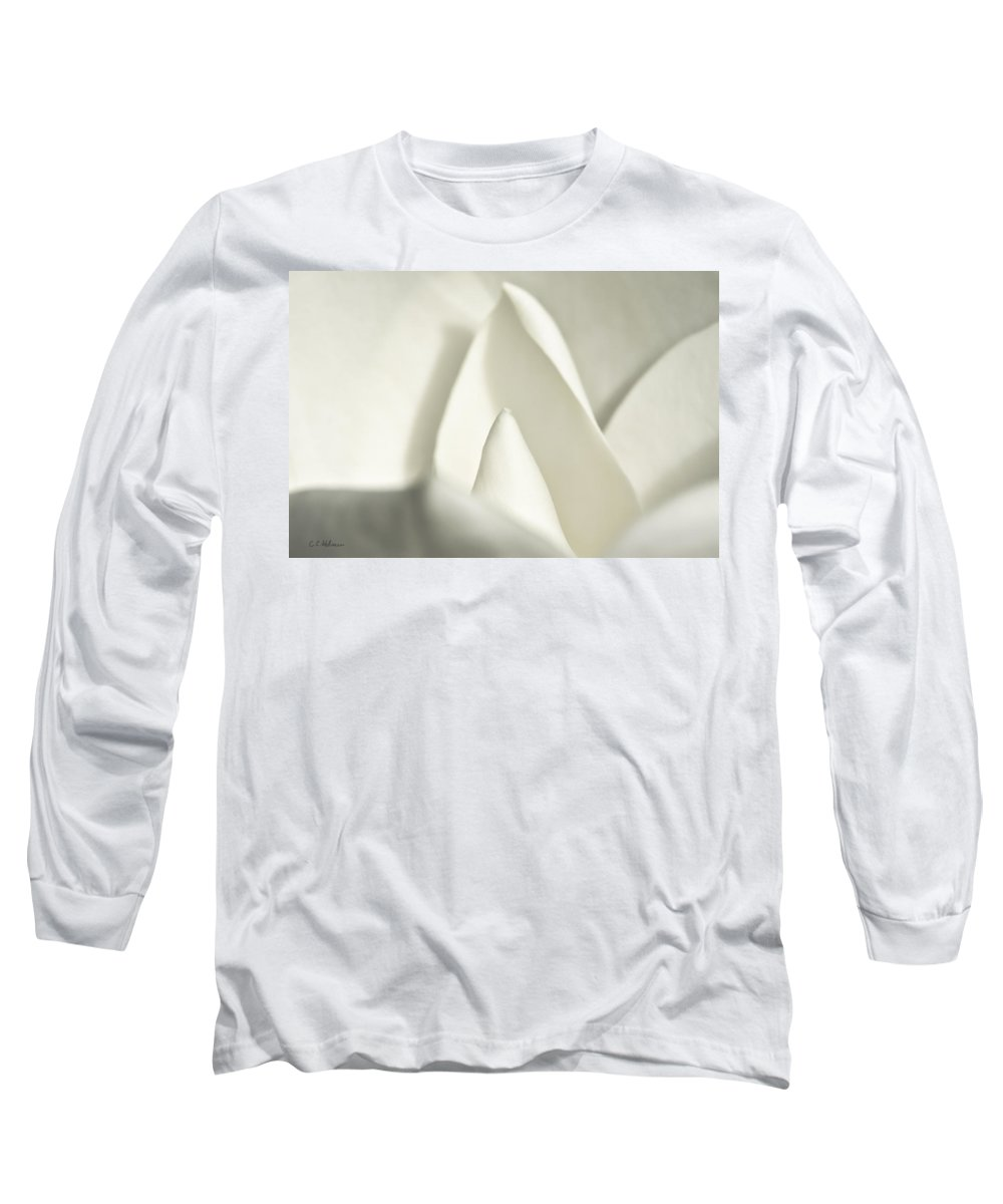 Magnolia Long Sleeve T-Shirt featuring the photograph Soft Magnolia by Christopher Holmes