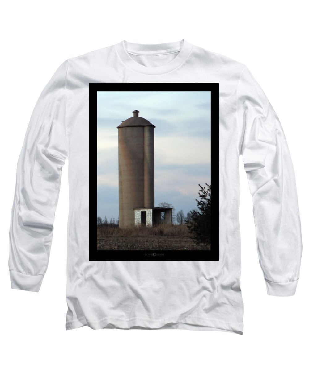 Silo Long Sleeve T-Shirt featuring the photograph Solo Silo by Tim Nyberg