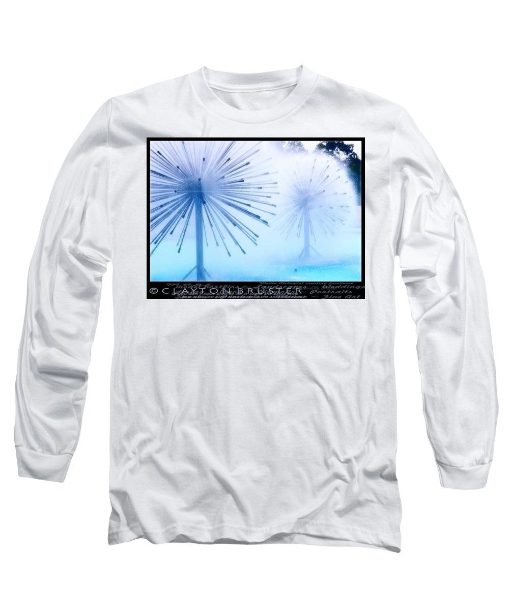 Clay Long Sleeve T-Shirt featuring the photograph Southern California Fountains by Clayton Bruster