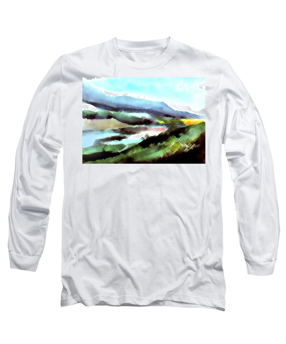 Digital Art Long Sleeve T-Shirt featuring the painting Sparkling by Anil Nene
