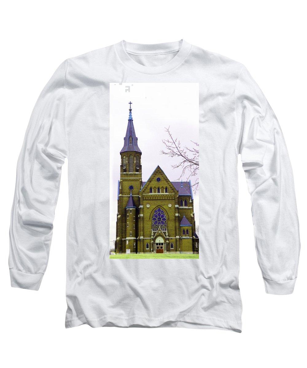 Spire Long Sleeve T-Shirt featuring the photograph Spire by Albert Stewart