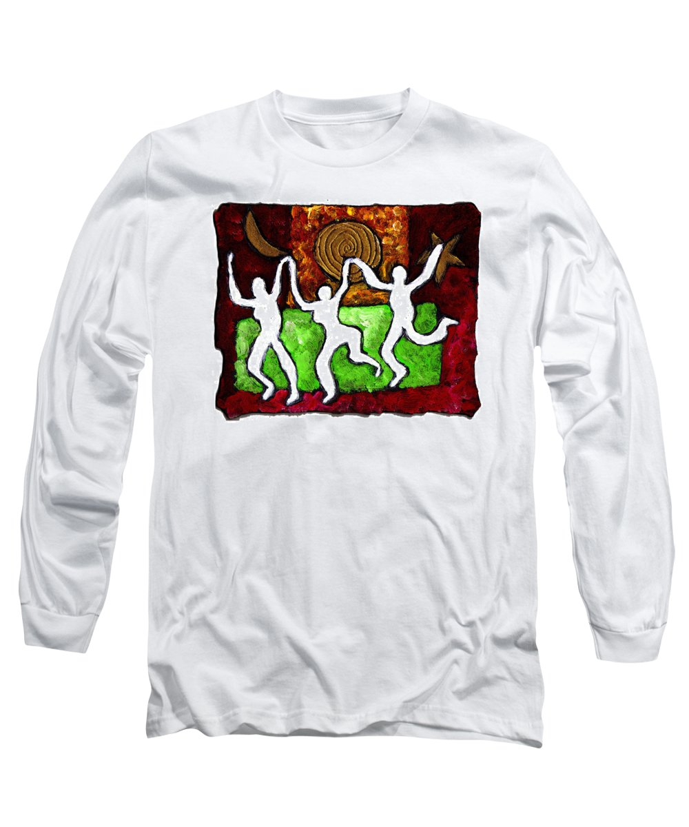 Dance Long Sleeve T-Shirt featuring the painting Spirits Of The Dance by Wayne Potrafka