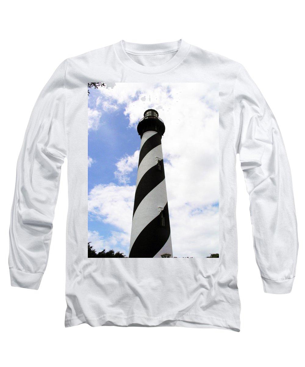 Lighthouse; Light; House; Keeper; St. Augustine; Florida; Coast; Shine; Fog; Storms; U.s. Coast Guar Long Sleeve T-Shirt featuring the photograph St. Augustine Light by Allan Hughes