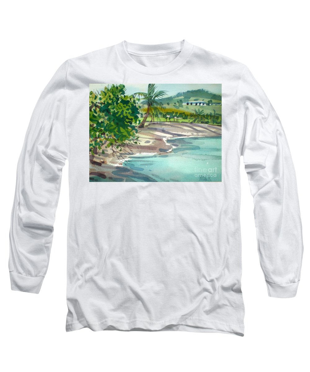 St. Croix Long Sleeve T-Shirt featuring the painting St. Croix Beach by Donald Maier