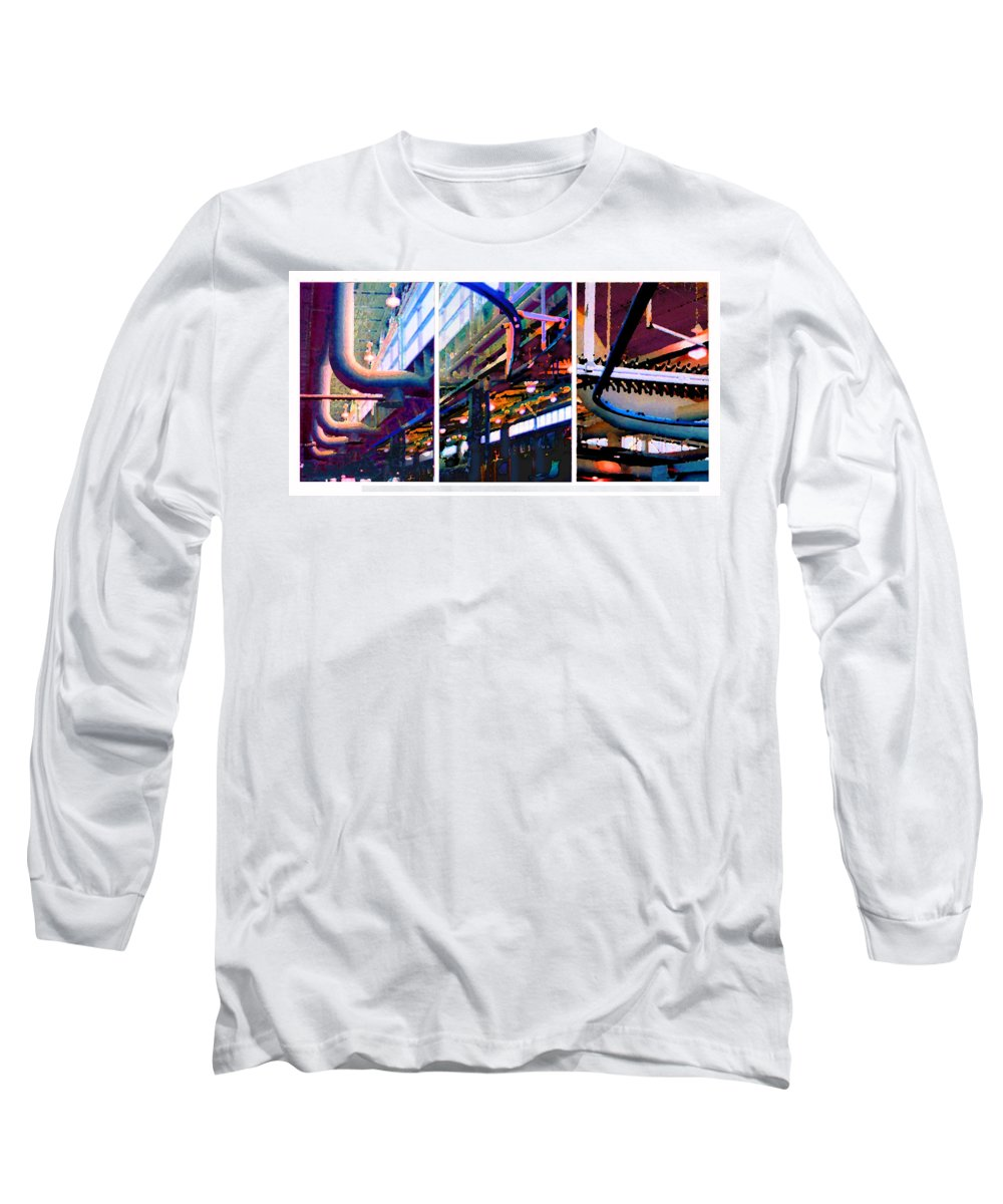 Abstract Long Sleeve T-Shirt featuring the photograph Star Factory by Steve Karol