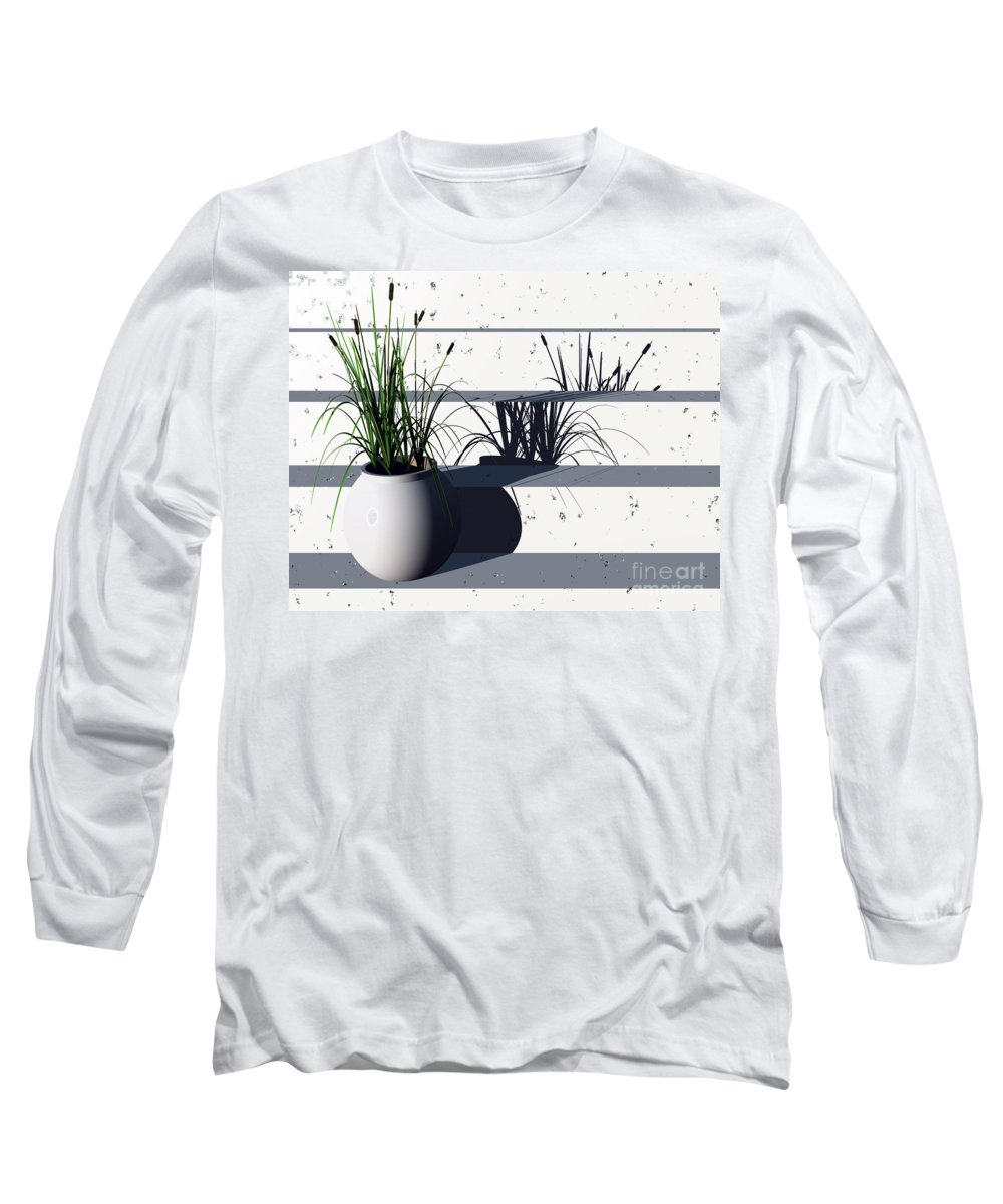 Steps Long Sleeve T-Shirt featuring the digital art Steps by Richard Rizzo