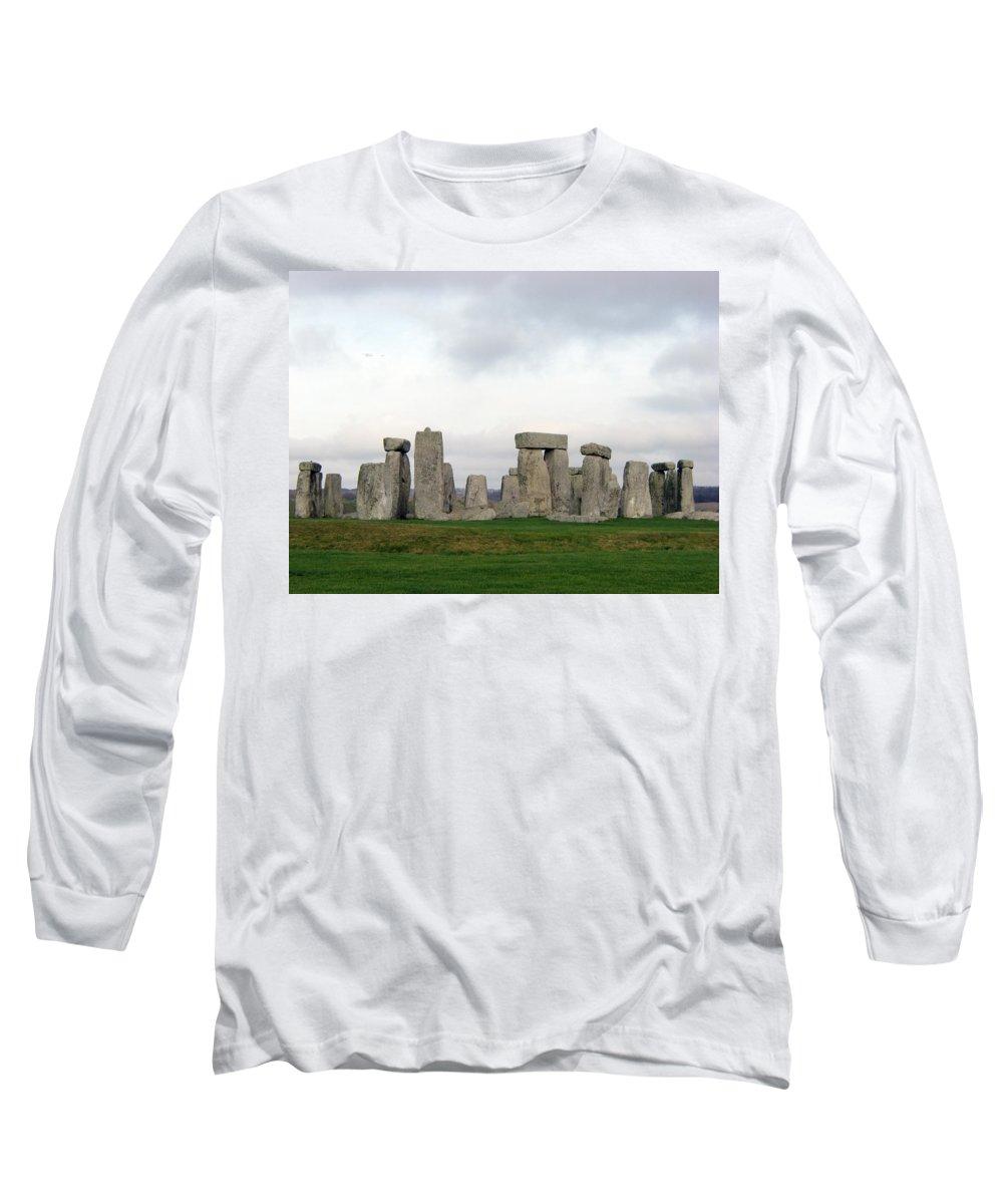 Stonehenge Long Sleeve T-Shirt featuring the photograph Stonehenge by Amanda Barcon