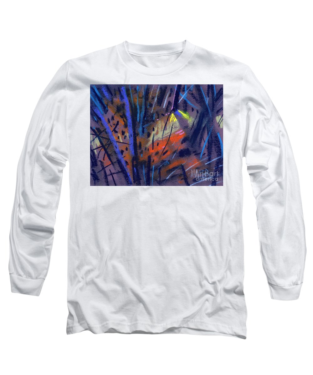 Abstract Long Sleeve T-Shirt featuring the drawing strange Lights by Donald Maier