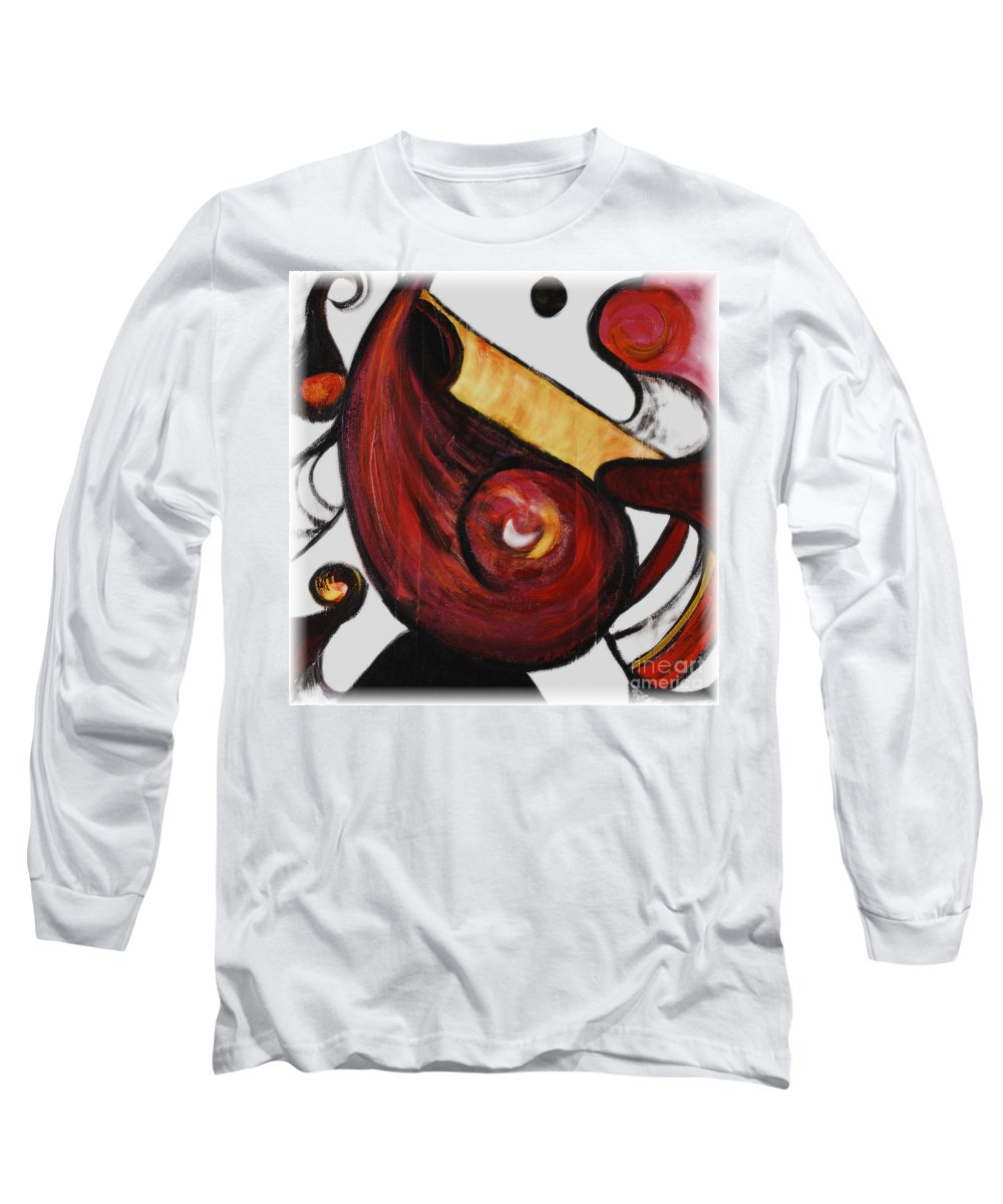 Survivor Long Sleeve T-Shirt featuring the painting Survivor by Nadine Rippelmeyer