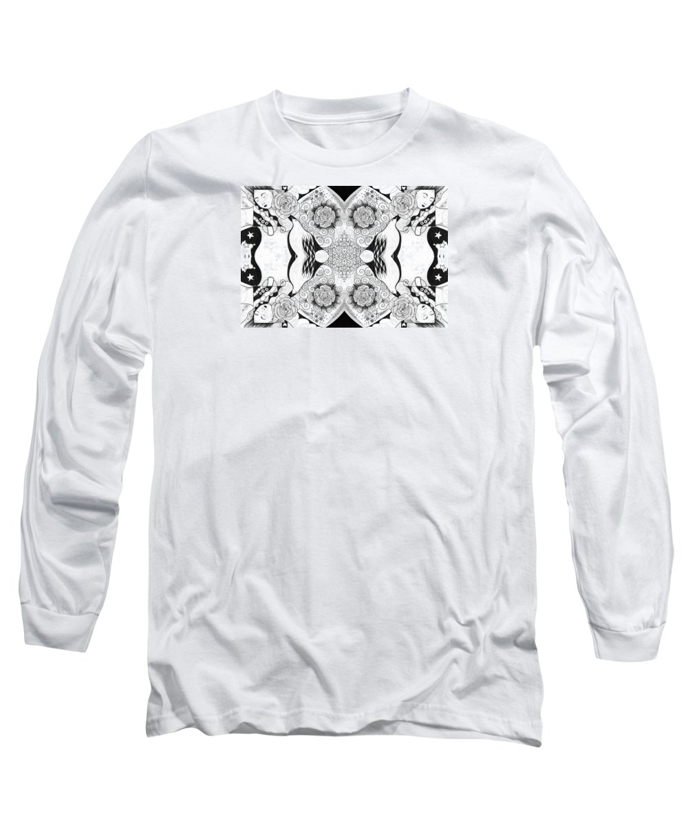 Change Long Sleeve T-Shirt featuring the drawing Tables Turning 2 by Helena Tiainen