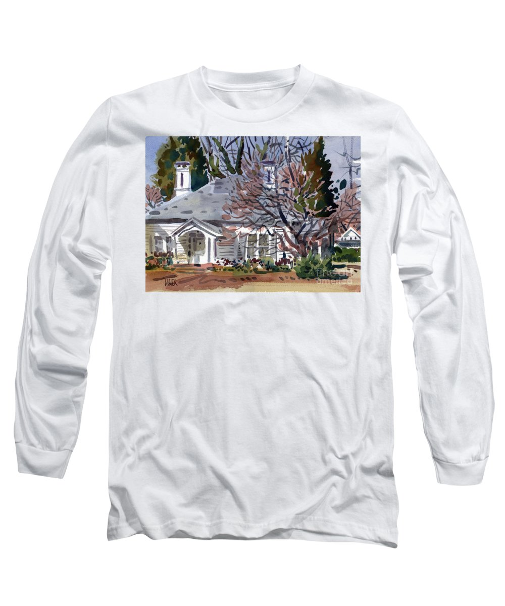 Tapp House Long Sleeve T-Shirt featuring the painting Tapp House by Donald Maier