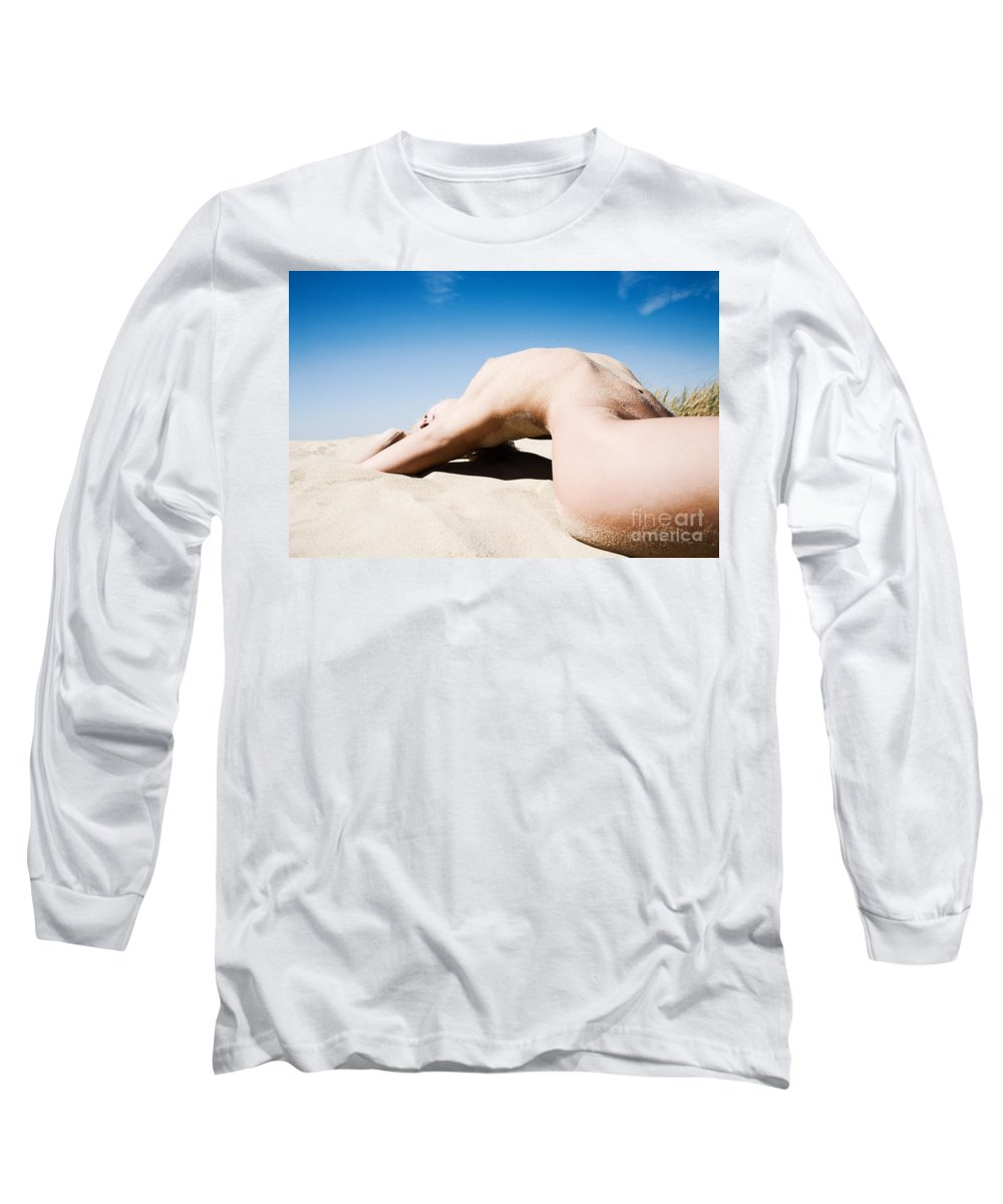 Sensual Long Sleeve T-Shirt featuring the photograph The Bridge by Olivier De Rycke