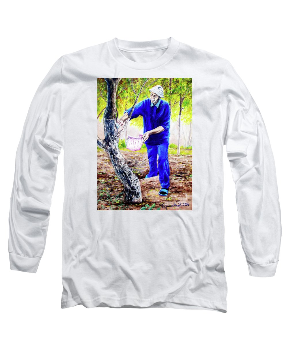 Daddy Long Sleeve T-Shirt featuring the painting The Cure - La Cura by Rezzan Erguvan-Onal