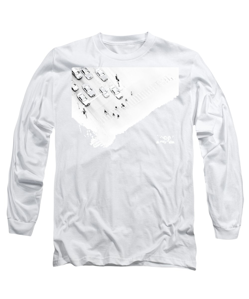 White Long Sleeve T-Shirt featuring the photograph The Faceless by Dana DiPasquale