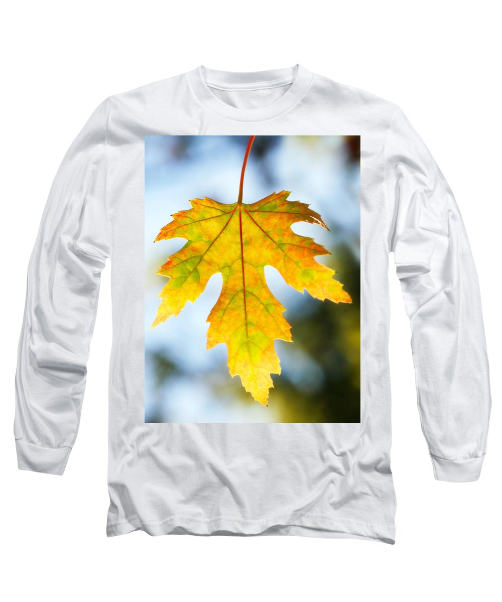 Maple Long Sleeve T-Shirt featuring the photograph The Maple Leaf by Marilyn Hunt