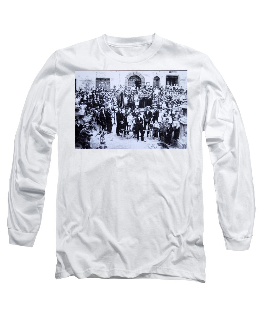 Tuscany Long Sleeve T-Shirt featuring the photograph The Village Band by Kurt Hausmann