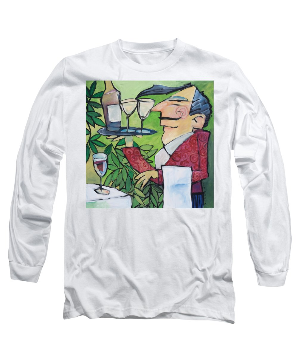 Wine Long Sleeve T-Shirt featuring the painting The Wine Steward by Tim Nyberg