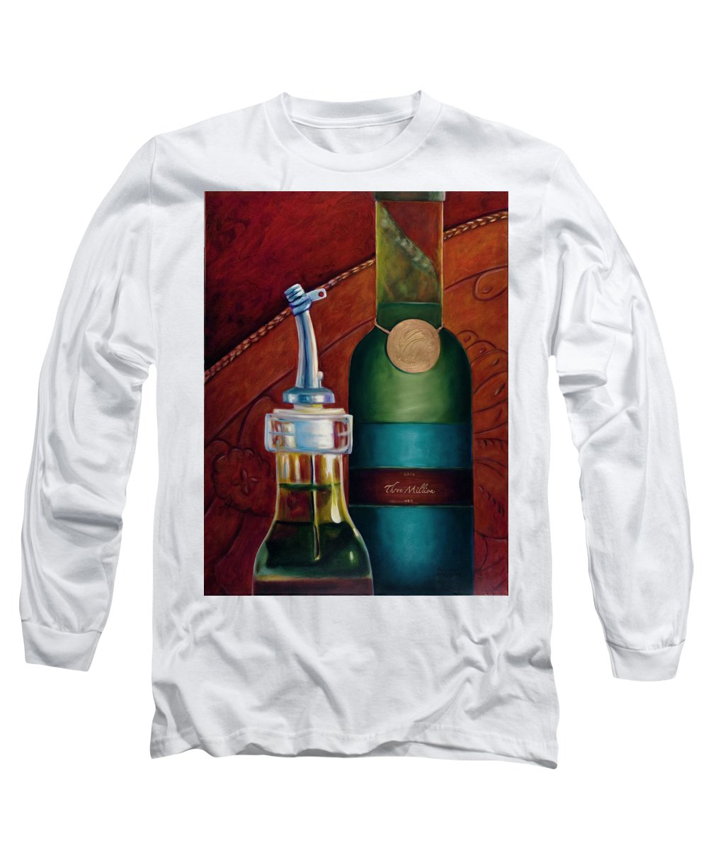 Olive Oil Long Sleeve T-Shirt featuring the painting Three Million Net by Shannon Grissom