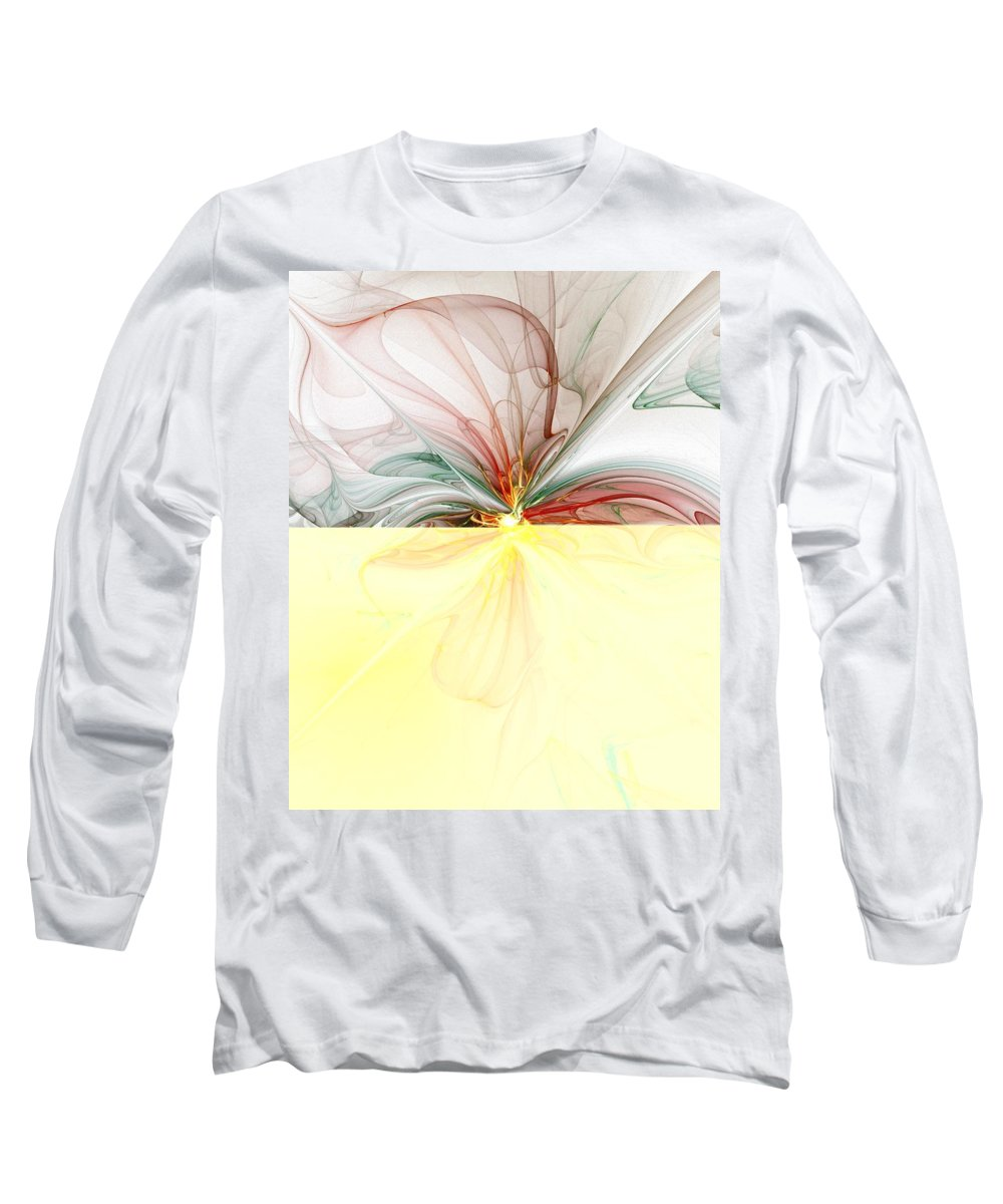 Digital Art Long Sleeve T-Shirt featuring the digital art Tiger Lily by Amanda Moore