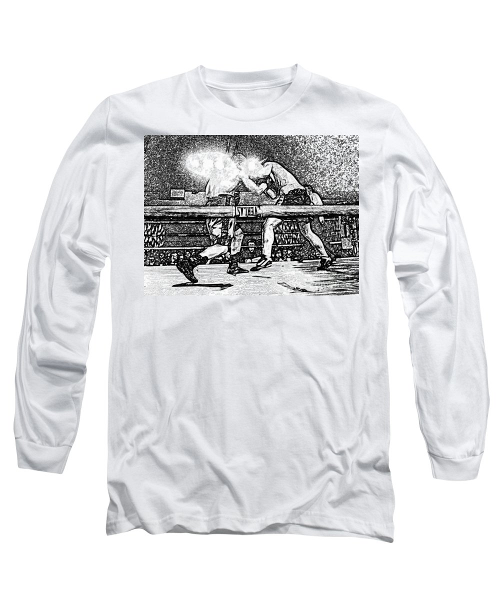 Boxing Long Sleeve T-Shirt featuring the photograph Titans Of The Ring by David Lee Thompson