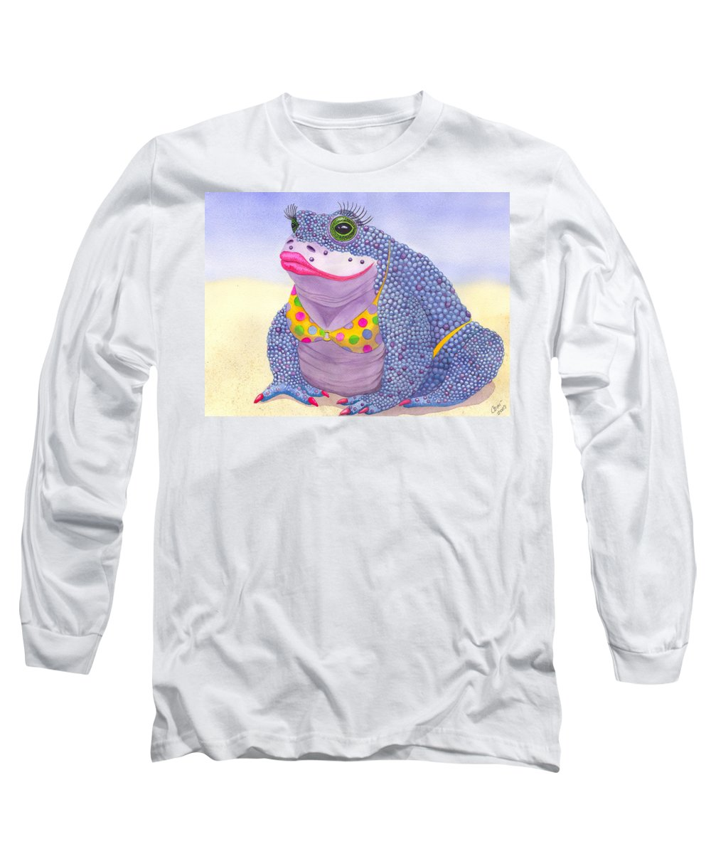 Toad Long Sleeve T-Shirt featuring the painting Toadaly Beautiful by Catherine G McElroy