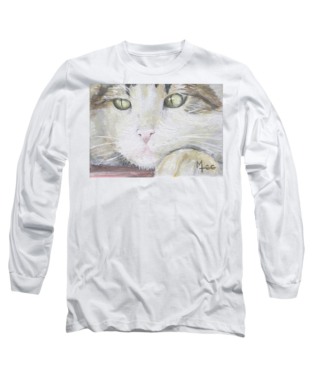 Charity Long Sleeve T-Shirt featuring the painting Tommy by Mary-Lee Sanders