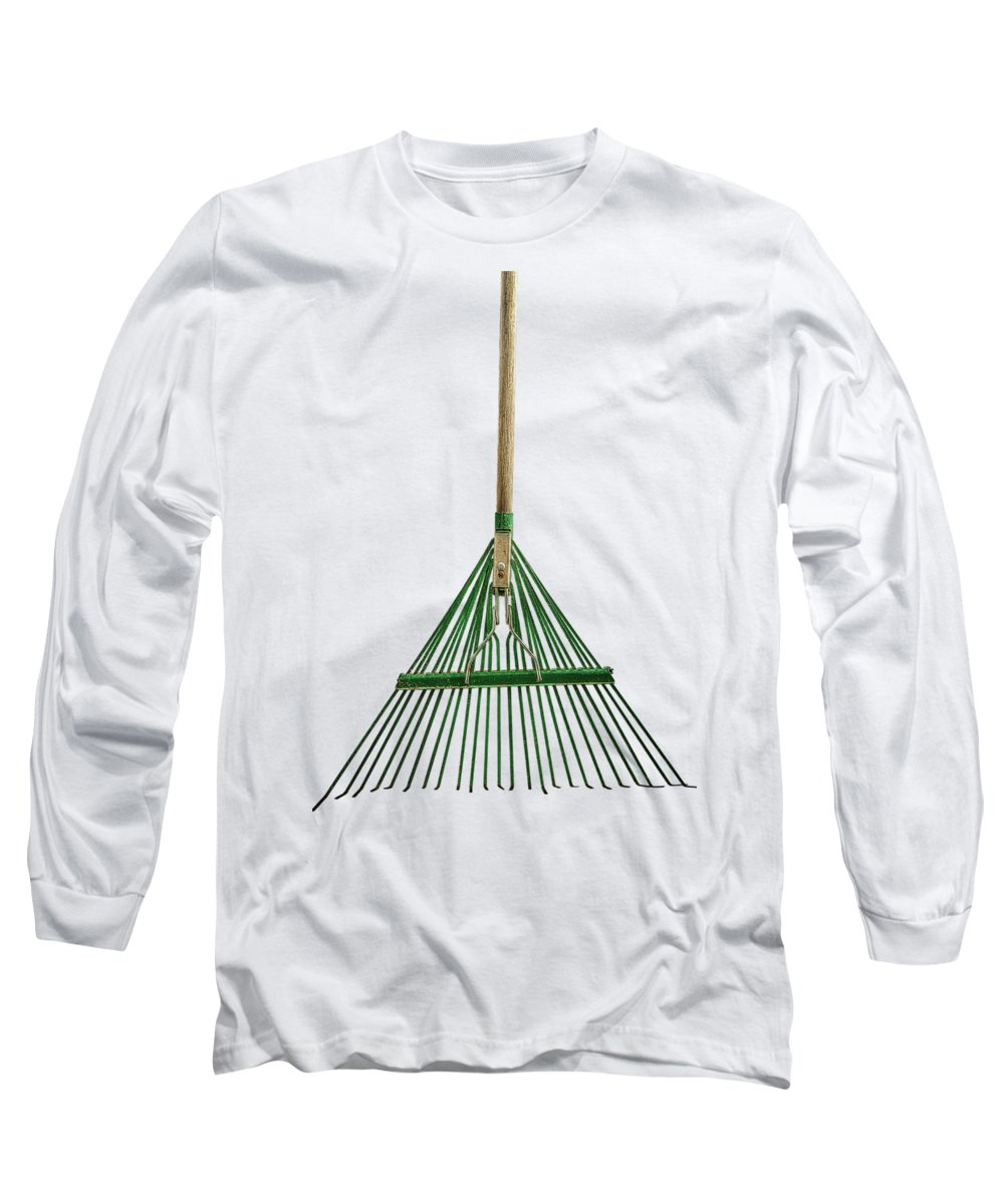 Art Long Sleeve T-Shirt featuring the photograph Tools On Wood 10 on BW by YoPedro