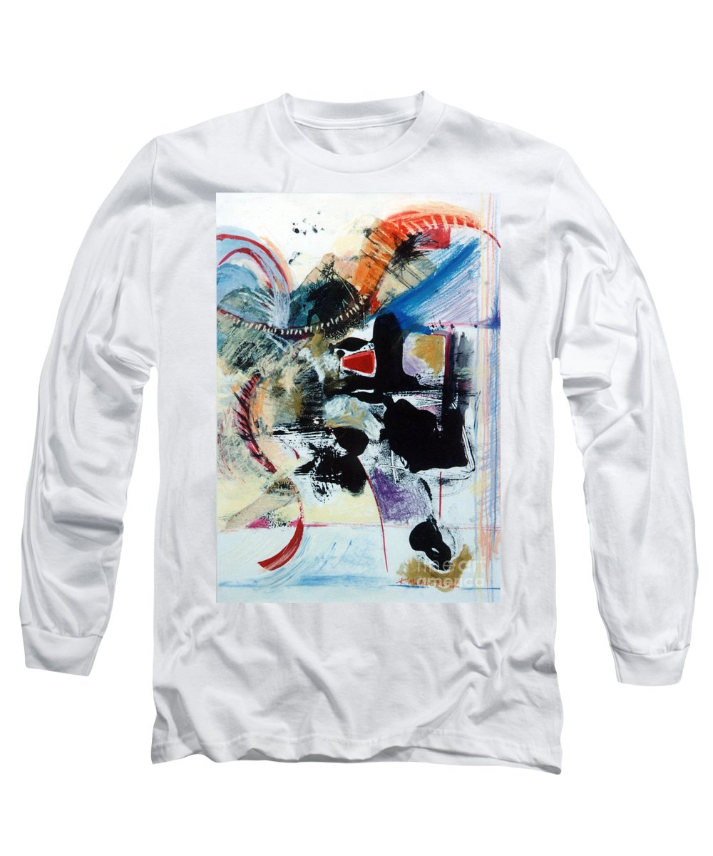 Transcendance Long Sleeve T-Shirt featuring the drawing Transcendance by Kerryn Madsen-Pietsch