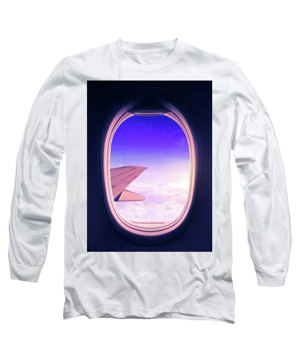 Travel Long Sleeve T-Shirt featuring the mixed media Travel The World by Nicklas Gustafsson