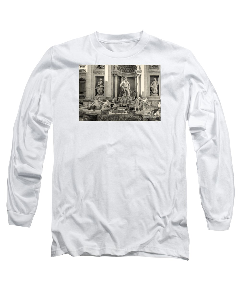 Trevi Fountain Long Sleeve T-Shirt featuring the photograph Trevi Fountain by Prints of Italy