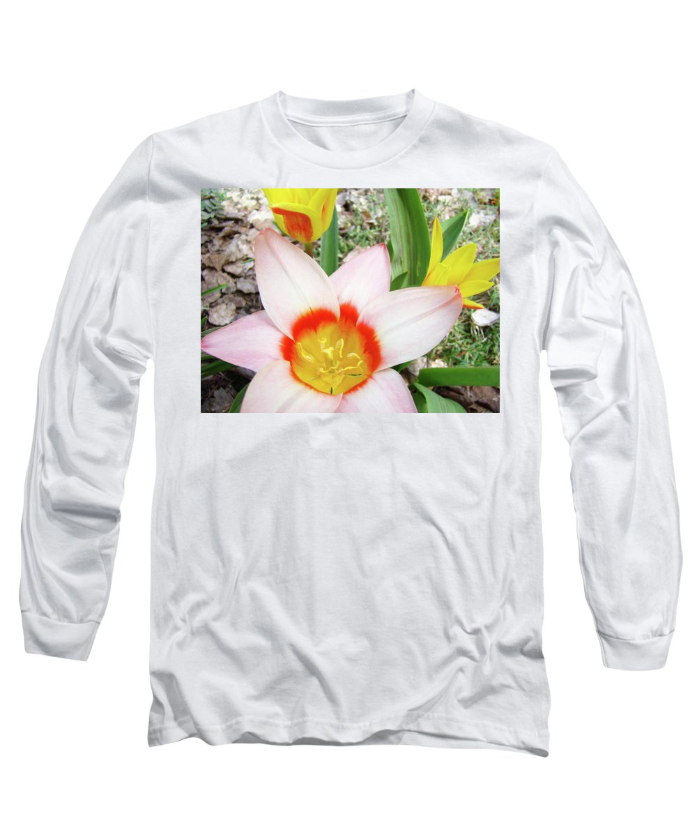 �tulips Artwork� Long Sleeve T-Shirt featuring the photograph Tulips Artwork 9 Spring Floral Pink Tulip Flowers Art Prints by Baslee Troutman