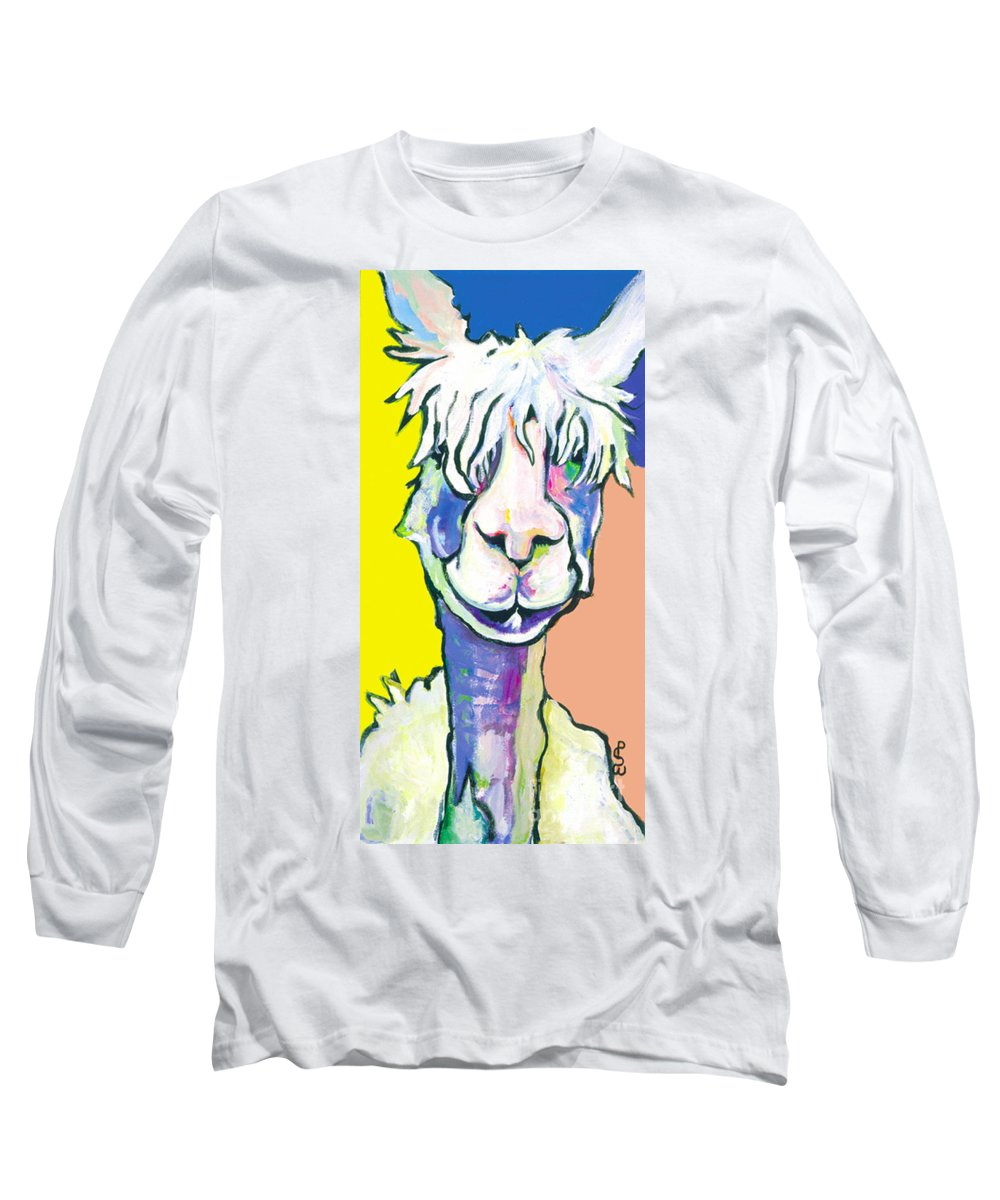 Mountain Animal Long Sleeve T-Shirt featuring the painting Veronica by Pat Saunders-White