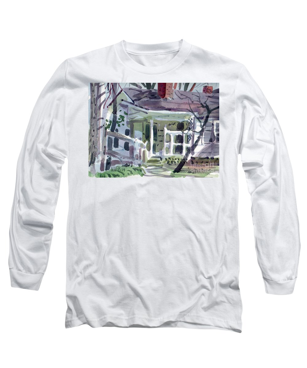 Wallis House Long Sleeve T-Shirt featuring the painting Wallis House by Donald Maier