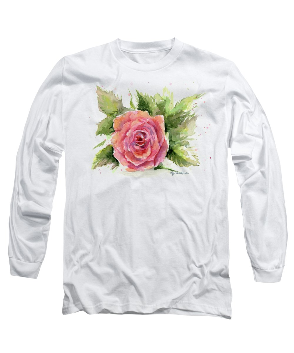 Pink Flowers Long Sleeve T-Shirts