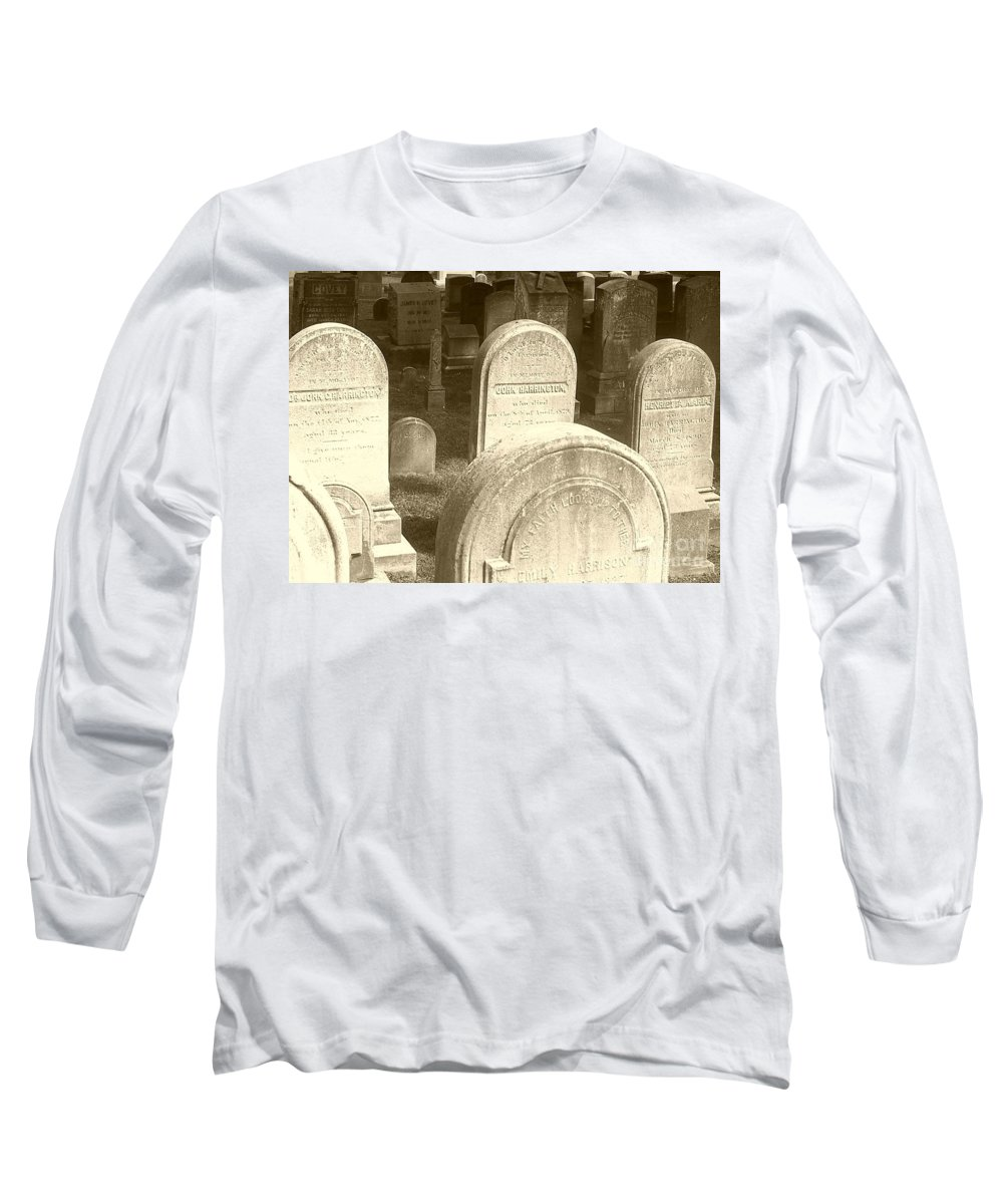 Cemetery Long Sleeve T-Shirt featuring the photograph Welcome by Debbi Granruth
