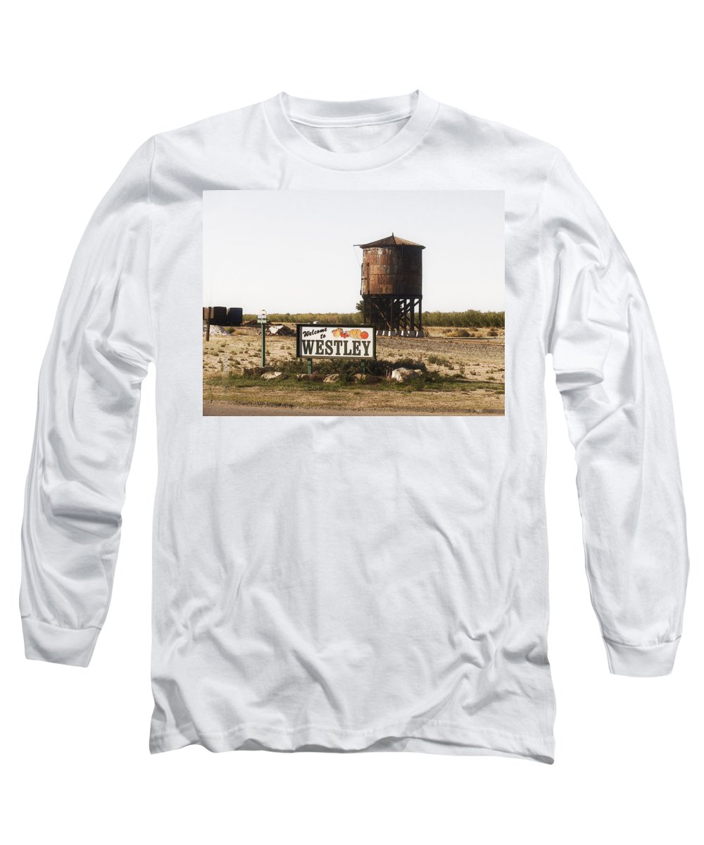 Landscape Long Sleeve T-Shirt featuring the photograph Welcome To Westley by Karen W Meyer