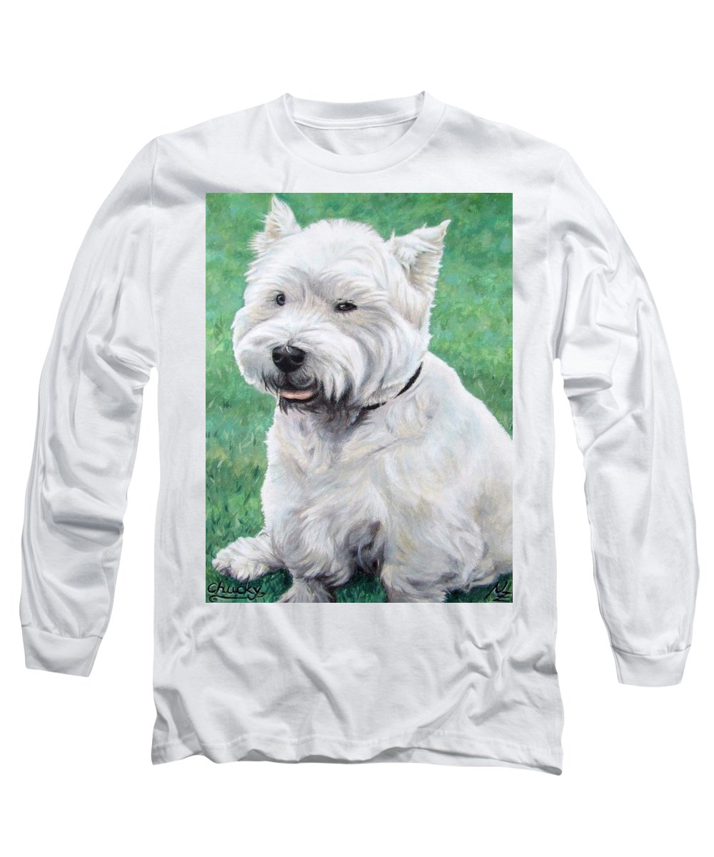 Dog Long Sleeve T-Shirt featuring the painting West Highland Terrier by Nicole Zeug