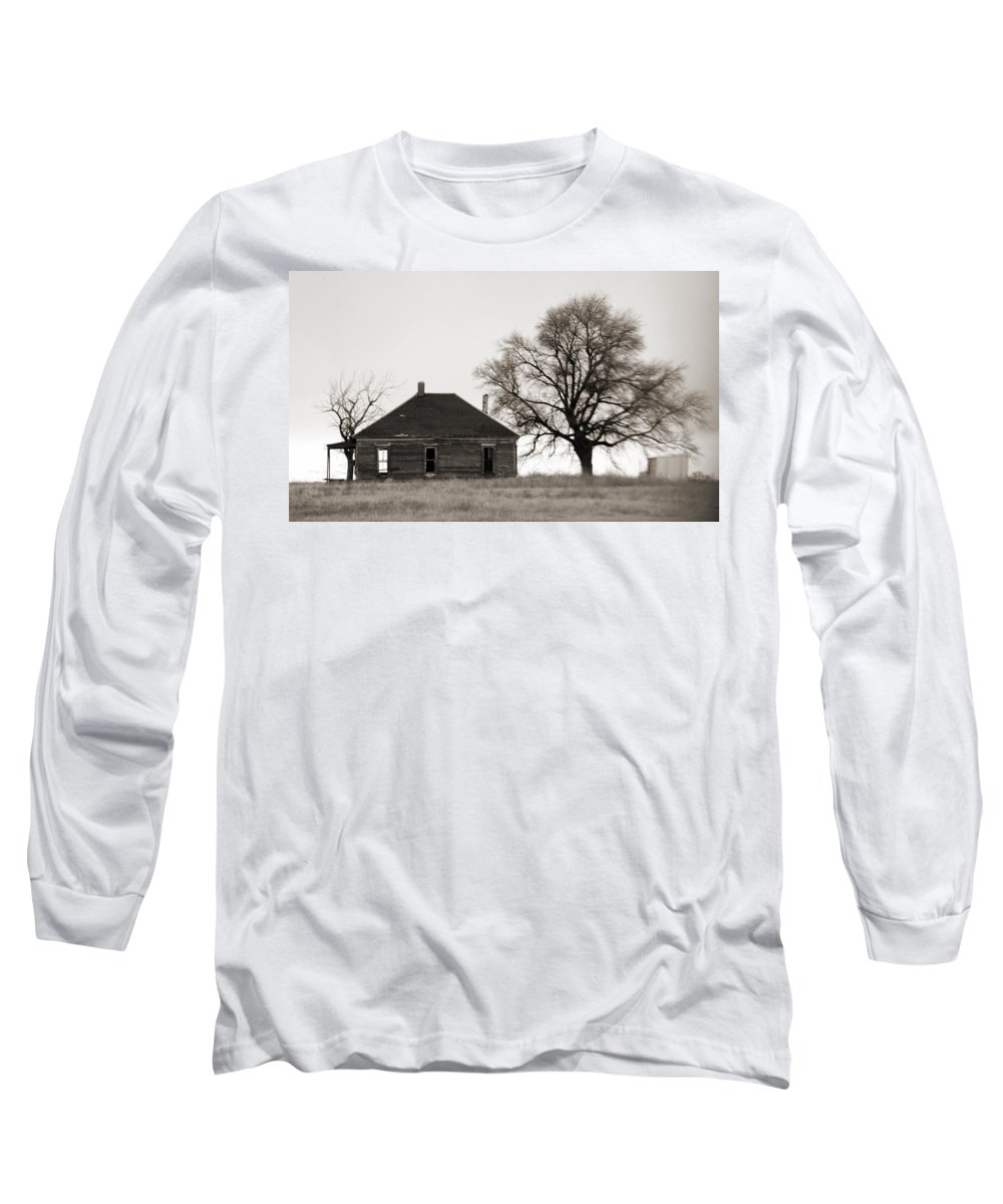 Texas Long Sleeve T-Shirt featuring the photograph West Texas Winter by Marilyn Hunt
