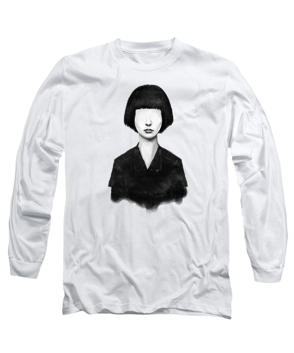 Girl Long Sleeve T-Shirt featuring the mixed media What You See Is What You Get by Balazs Solti