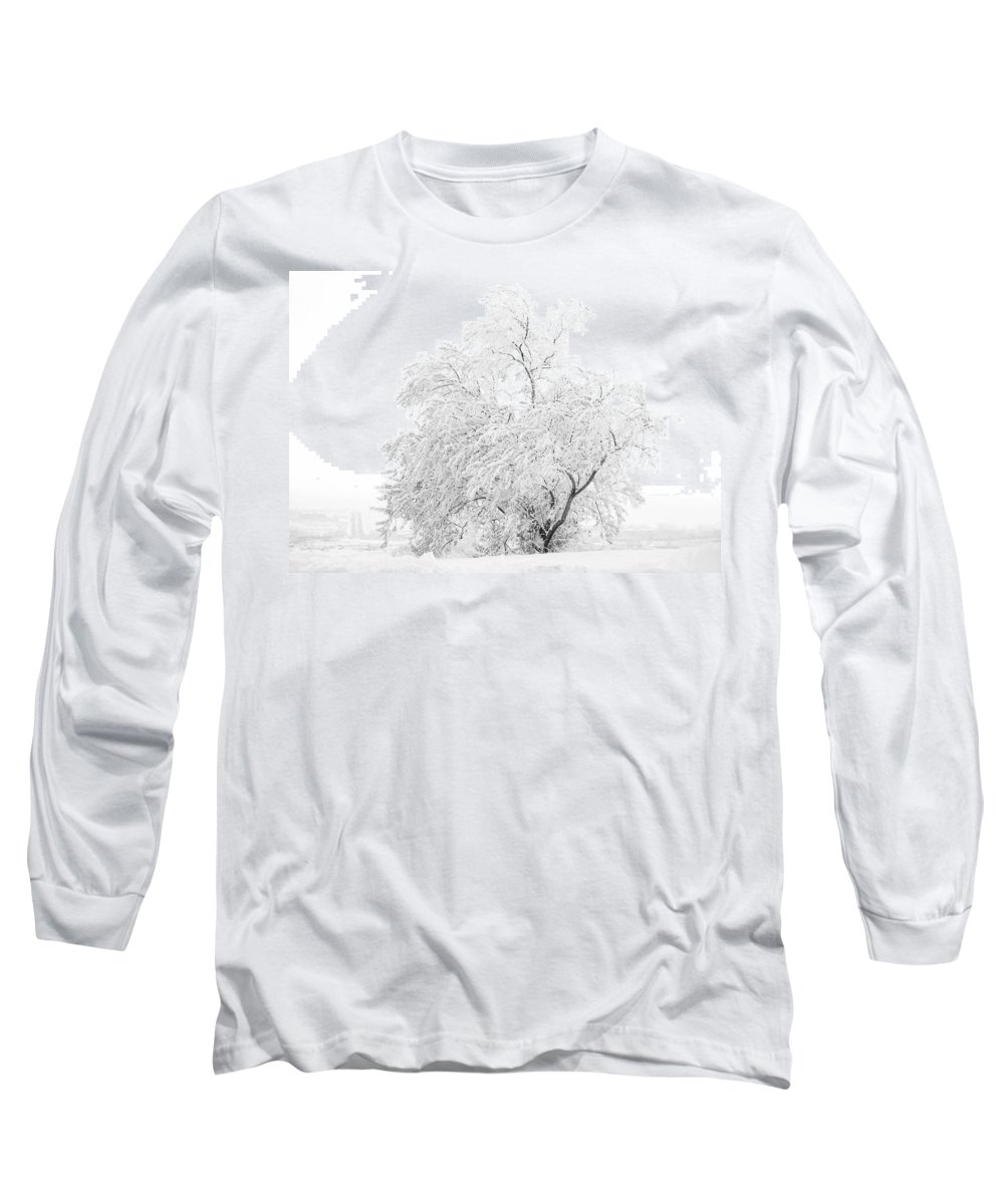 Snow Long Sleeve T-Shirt featuring the photograph White On White by Marilyn Hunt