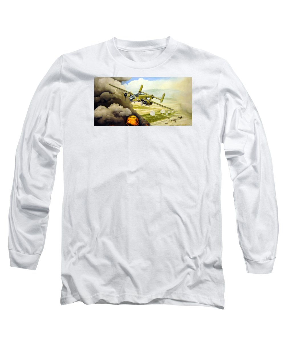 Aviation Long Sleeve T-Shirt featuring the painting Wild Cargo by Marc Stewart