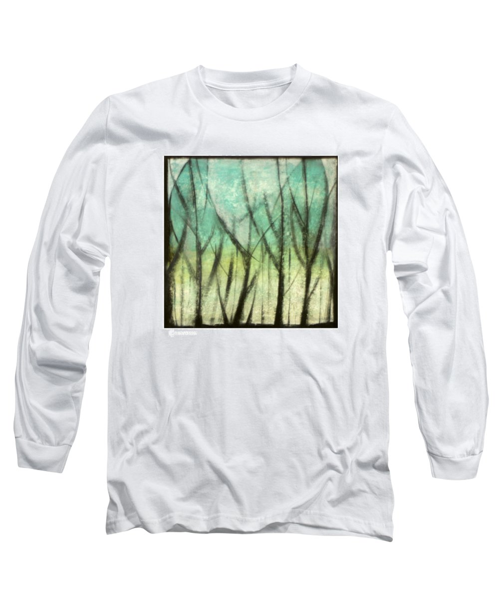 Trees Long Sleeve T-Shirt featuring the painting Winter Into Spring by Tim Nyberg