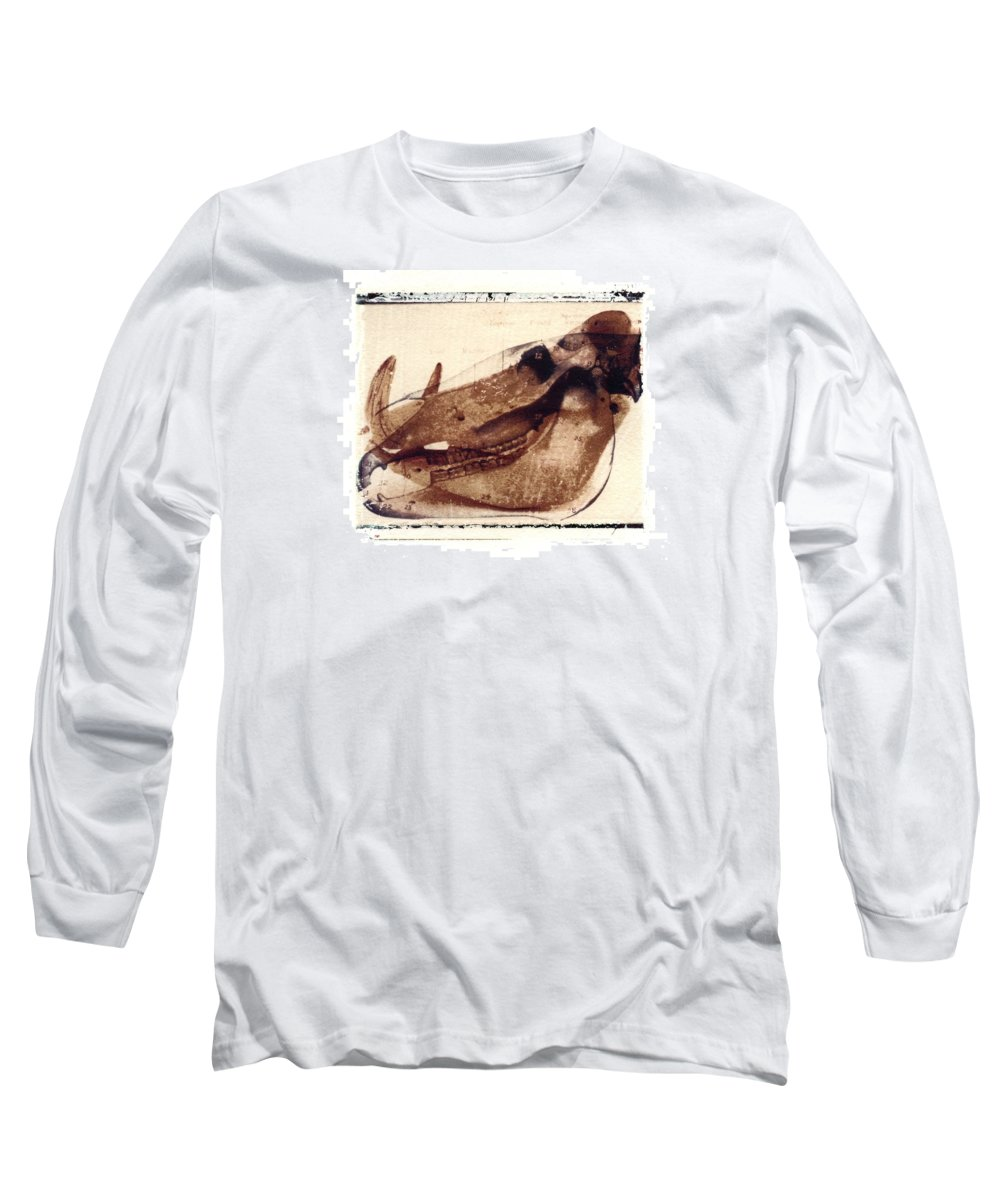Polaroid Transfer Long Sleeve T-Shirt featuring the photograph X Ray Terrestrial No. 6 by Jane Linders