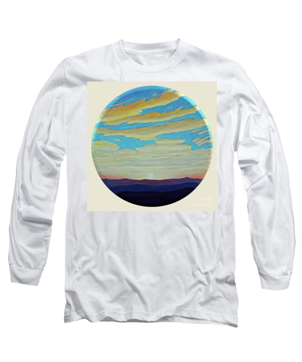 Landscape Long Sleeve T-Shirt featuring the painting Yesterday by Brian Commerford