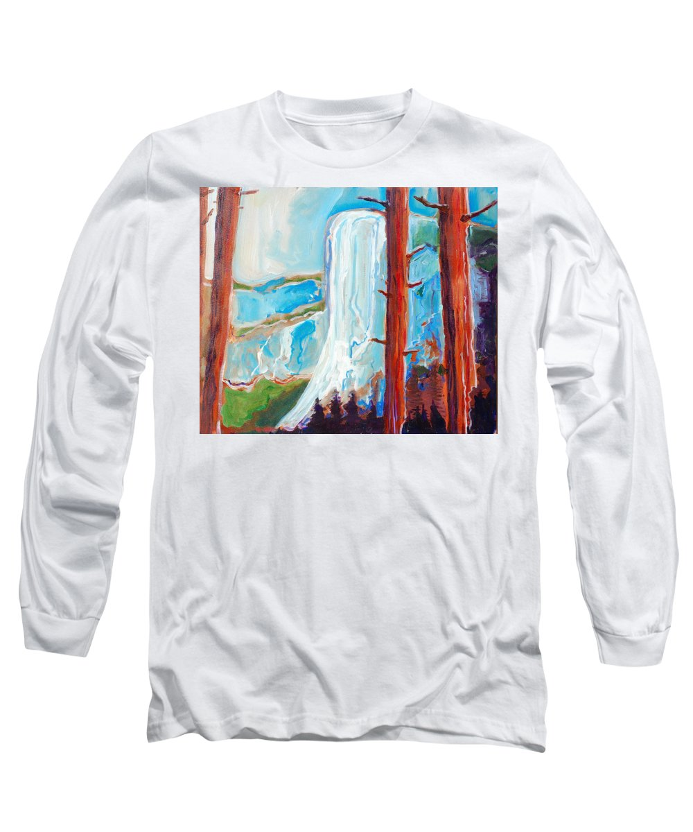 Long Sleeve T-Shirt featuring the painting Yosemite by Kurt Hausmann