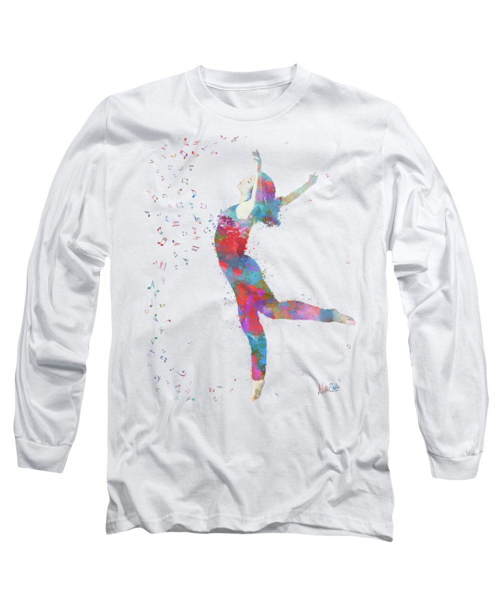 Music Long Sleeve T-Shirt featuring the digital art Beloved Deanna Radiating Love by Nikki Marie Smith