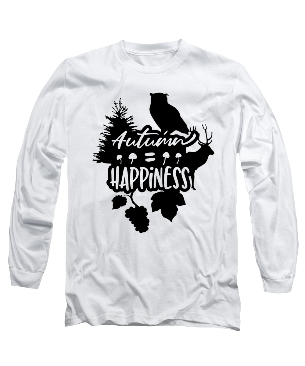 Grape Long Sleeve T-Shirt featuring the digital art Autumn Happiness Nature Thanksgiving by Passion Loft