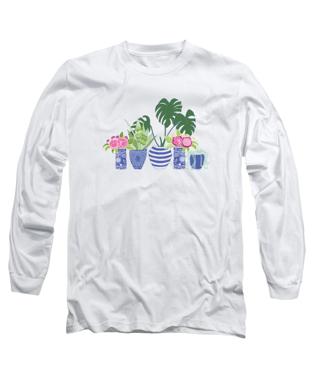 Peony Digital Art Long Sleeve T-Shirts